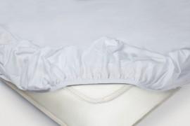 Простыня на резинке Трикотажная — белый
