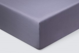 Простыня на резинке  Сатин - Фиолетовый