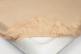Простыня на резинке Трикотажная — персиковый