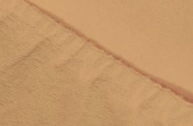 Простыня на резинке  Махровая — персиковый