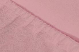 Простыня на резинке  Махровая — розовый