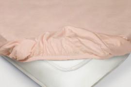 Простыня на резинке Трикотажная — розовый