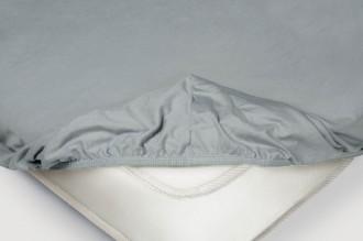 Простыня на резинке Трикотажная — серый