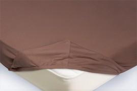 Простыня на резинке Трикотажная — светло-коричневый