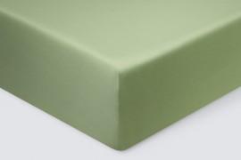 Простыня на резинке  Сатин - Зеленый